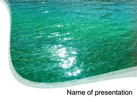 water powerpoint template free blue water powerpoint template for your