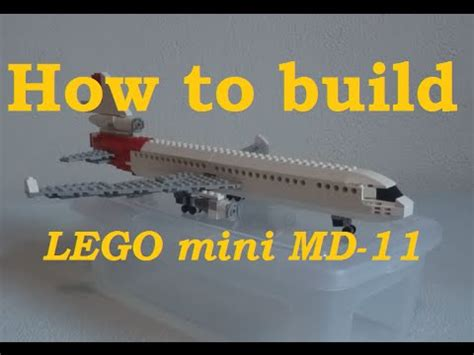 lego jet tutorial how to build a lego mini md 11 part 1 youtube