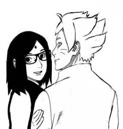 sarada and boruto by himavari chan on deviantart