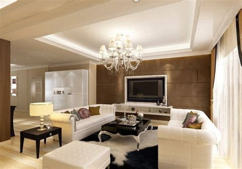 smooth ceiling design for modern living room