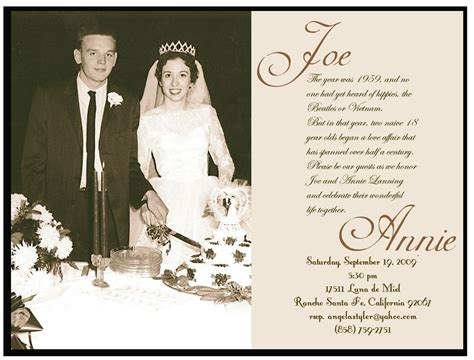 free wedding aniversery invitation templates