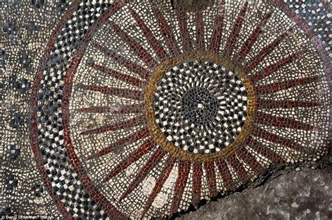 mosaic pattern for sun roman mosaics unearthed in southern france daily mail online