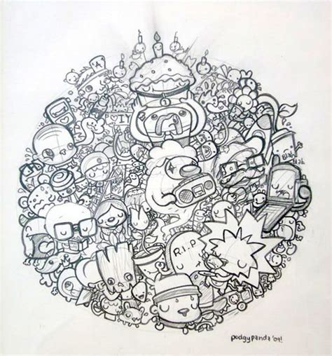 doodle characters monsters colored 1000 images about for me doodling on