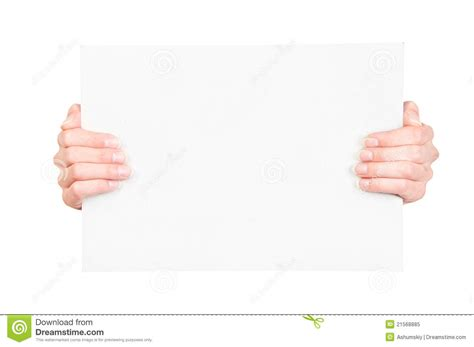 How To Make Paper Holding - holding blank paper stock image image of frame