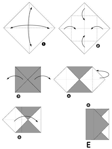 Origami Letter E - origami de letter e