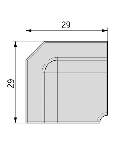 angolo interno angolo interno in alluminio volpato 80 g1 1a90b mancini