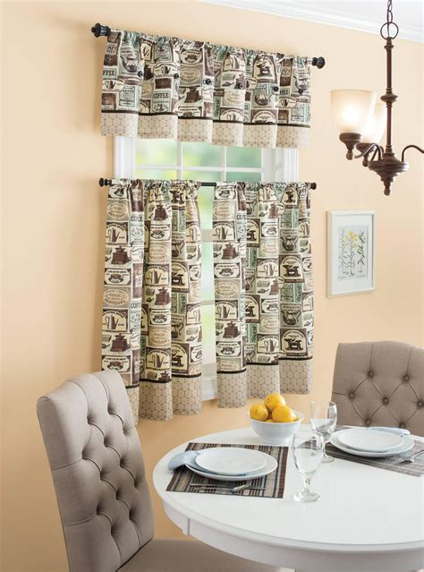 coffee kitchen curtains coffee themed kitchen decor ideas homestylediary com