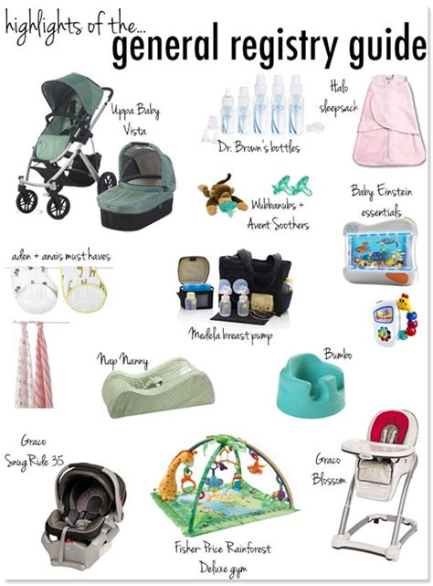 the must guide a listed checklist for everything you need baby