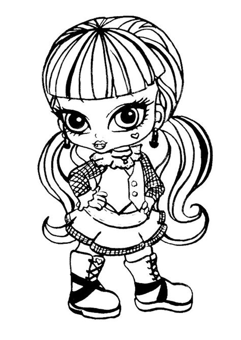 Dibujos Para Colorear De Monster High De Beb S Dibujos | dibujos para colorear monster high draculaura bebe