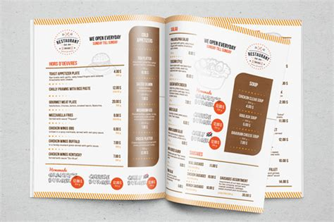restaurant menu template brochure templates on creative