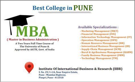 Best Mba In Usa 2014 by Top Best Colleges For Mba In Pune