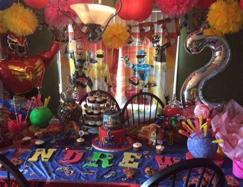 Power Rangers Birthday Party for Power Rangers Lovers ? CRIOLLA Brithday & Wedding