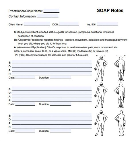 Soap Notes Templates soap note template 10 free documents in pdf word