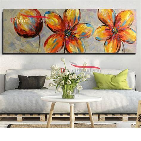 fiori quadri dipinti moderni fiori astratti colorati su tela dipinti