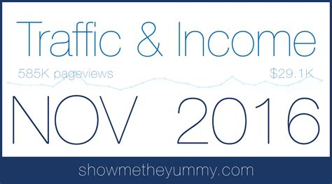 traffic and income report november 2016 show me the