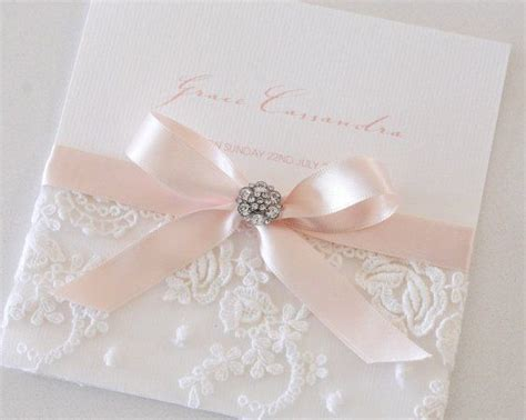 tarjetas on pinterest 15 anos wedding invitations and invitations blush vintage antique lace diamante button invitation