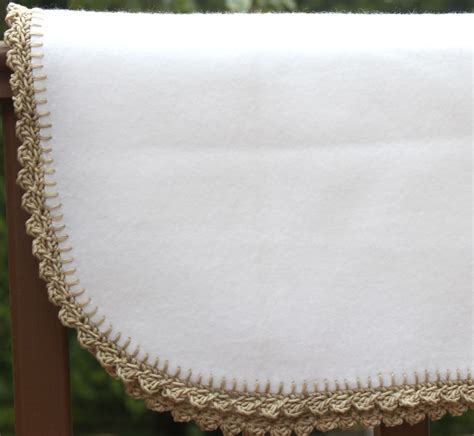 Crochet Edges On Blankets by Crocheted Edge Fleece Baby Blanket Big A A