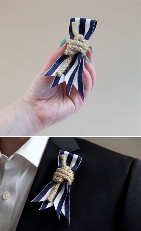 Handmade Corsage And Boutonniere - how to make diy nautical boutonnieres for your seaside
