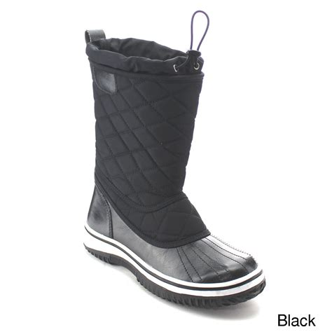 daviccino aa42 womens lace up waterproof quilted mid calf