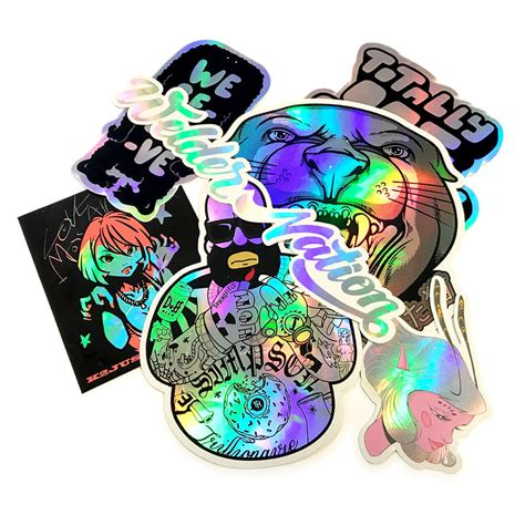 printable holographic stickers mixed custom holographic stickers 183 stickersthatstick co uk