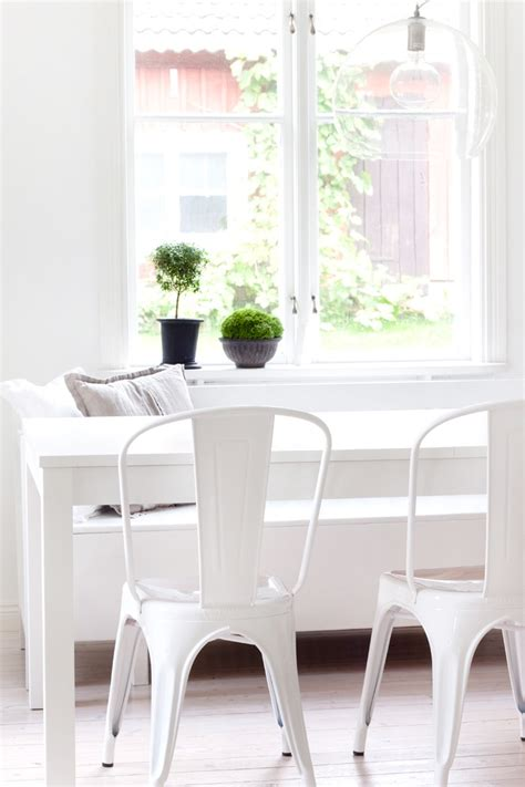 white breakfast nook decordots white interiors