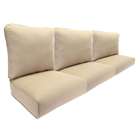 replacement pillows for couch hton bay woodbury replacement outdoor sofa cushion in
