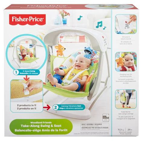 fisher price take along swing woodlands fisher price woodland friends take along swing seat