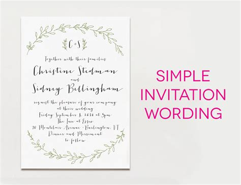 templates for making invitations tips easy to create wedding invites wording ideas with