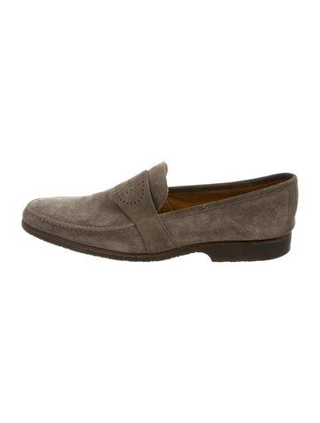 hermes suede loafers herm 232 s suede h loafers shoes her69857 the realreal