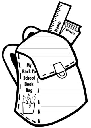 Book Bag Templates Fun Back To School Printable Worksheets Printable Backpack Template