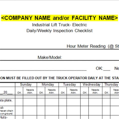 forklift inspection checklist american safety