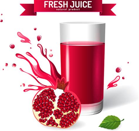 creative juices decor decorating the top of your kitchen fresh pomegranate juice creative design vector free vector