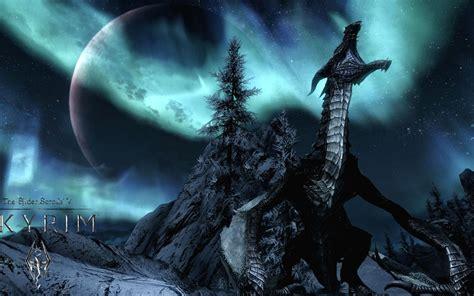 dragon skyrim wallpaper hd pixelstalknet
