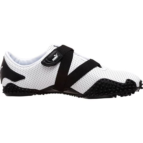 Mostro White mostro perf leather shoes in black for white