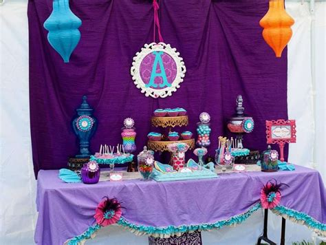 jasmine themed birthday party arabian princess birthday party ideas photo 32 of 61