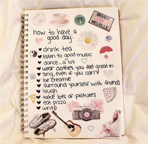 design journal tumblr book happy notes cute 333 image 3453888 by