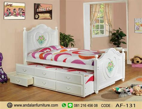 jual tempat tidur anak sorong perempuan harga murah
