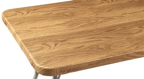 wood grain vinyl elasticized banquet table cover ebay