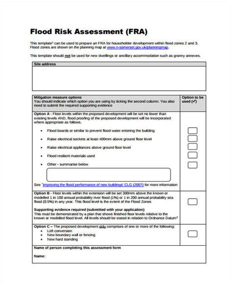 Preliminary Credit Assessment Template 36 Sle Risk Assessment Form