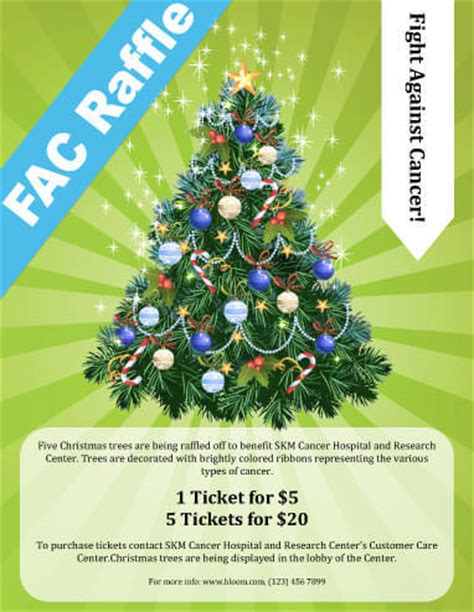 poster template for christmas tree 16 free raffle flyer templates prize 50 50 fundraising and more