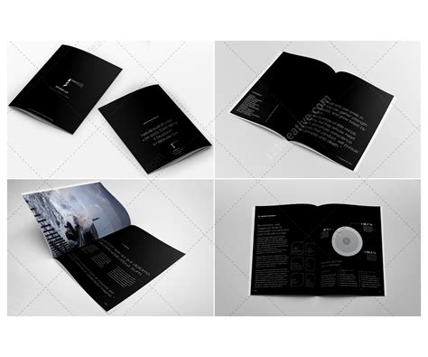 black brochure template black corporate brochure design annual report brochure