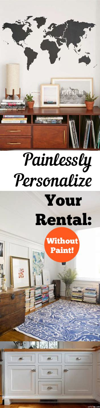 how to decorate a rental home without painting 4 easy