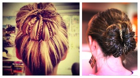 micro braid hairstyles bun hair bun with micro braid accents updo hairstyles cute