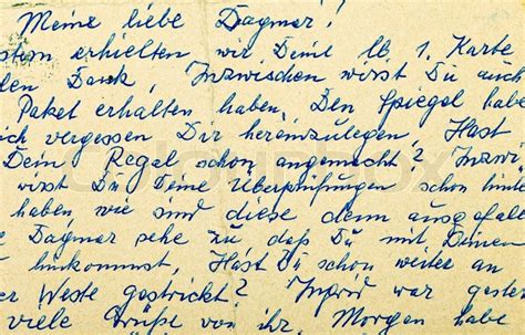 Letter Of Credit German fragment of an handwritten letter written in german