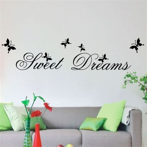 Sweet Dreams Wall Stickers sweet dreams wallsticker m sommerfugle worldofstickers dk