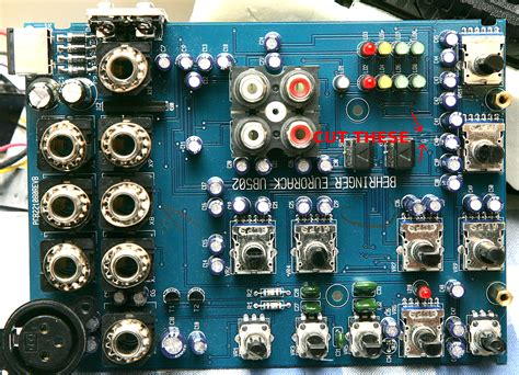layout pcb mixer behringer behringer ub502 xenyx 502 modification