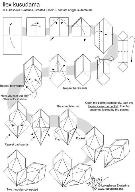 Modular Origami Models - diagram for ilex kusudama origami tutorials 3
