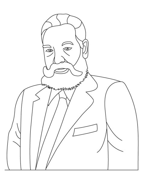 free coloring pages of alexander graham bell