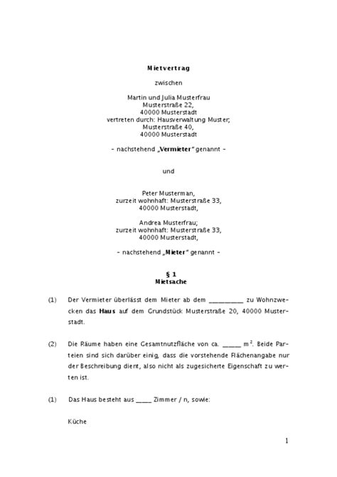 Vorlage Wohnungskündigung Bei Todesfall Jetzt Downloaden Muster F 252 R Mietvertrag Einfamilienhaus