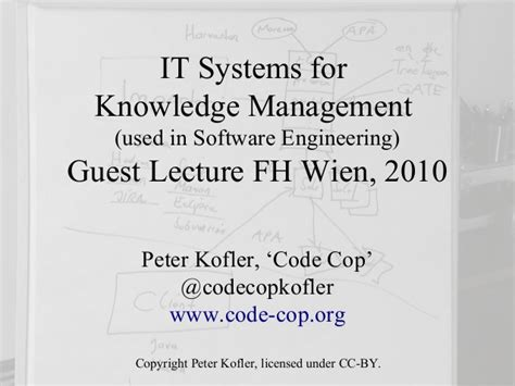 Mba Courses Useful For Software Engineers by It Systems For Knowledge Management Used In Software